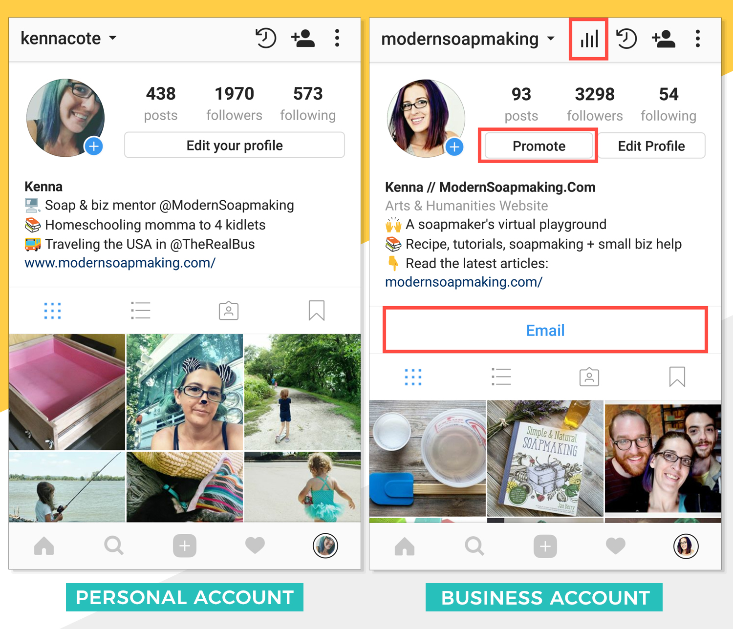 Instagram Personal Vs Business Account